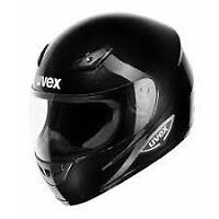 Uvex Xenova Negro Brillante Casco de Moto Mitad Precio - Talla Xs