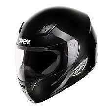Uvex Xenova Negro Brillante Casco de Moto Mitad Precio - Pequeño