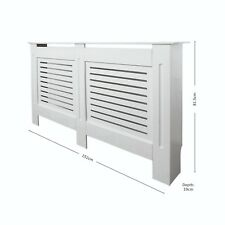 Painted Radiator Cover Cabinet Modern White Mdf Large 1520x 815 X 190mm