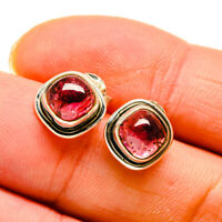 "Pink Tourmaline 925 Sterling Silver Earrings 1/2"" Ana Co Jewelry E410729F"