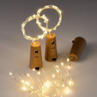 15er LEDs Lichterkette Draht Micro warmweiß, Batteriebetrieb,Weinflasche Licht