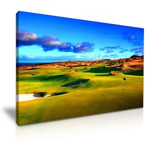 Beautiful St. Andrews Old Golf Course Modern Canvas Print Wall Art ~ 5 Size