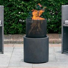 Delshire Wood Burning Fire Pit Backyard ~Patio~Modern~Stone~Metal ~Elegant~