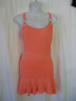 *Lip Service Rare Frankenstitched Dye 4 You Orange Racerback Tank Dress/Tunic M