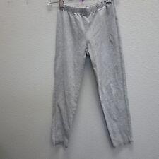 GAP KIDS Girls Gray Cotton Stitch Side Lace Trim Leggings - M 8