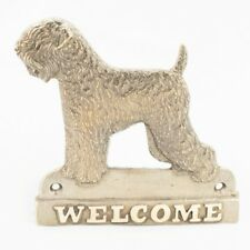 Black Russian Terrier - brass tablet with image of a dog, Art Dog Usa