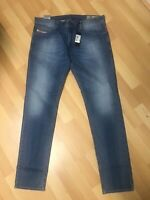 NWD Men Diesel THAVAR Stretch Denim R18W6 BLUE Slim W33 L32 H6.5 RRP£150