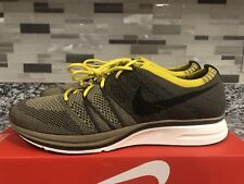 New Men's Nike Flyknit Trainer Shoe Size 10 Cargo Khaki/Black-Sail AH8396 300