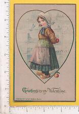 9861 Kenneth A. Baird 1908 Dutch girl postcard Marlboro, NJ H. I. Robbins Boston