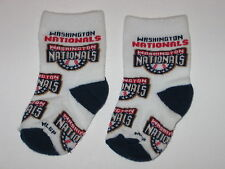 Washington Nationals Team Logo Cotton Baby Booties - First Pair Of Socks!