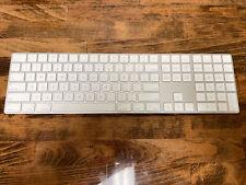 New listing Apple Magic Keyboard with Numeric Keypad Wireless English A1843 Mq052Ll/A