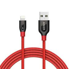 Anker PowerLine+ Lightning Cable (6ft) Durable and Fast Charging Cable(Red)