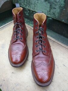 LODGER BROGUE BOOTS –  BROWN / TAN – UK 11 – EXCELLENT CONDITION