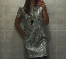 Abito Vestito Zara Blu Bianco S Tubino Dress Robe New - Vestitino XS righe mini