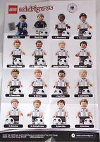 Lego 71014 Minifiguren DFB Mannschaft, 1 kompletter Satz, 16 Stück NEU auf Lager