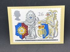 Lion Of Mortimer Yale Of Beaufort Crest Stamp Postcard 1998 Royal Mail