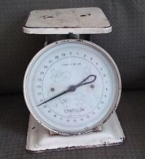 Vintage/Antique Chatillon Hospital Metal Baby Scale - USA Made