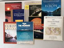 Collection of Ship brochures Qe2, Norway, Vistafjord, Rotterdam, Sagafjord
