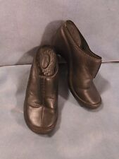 Women's Privo by Clarks Black Leather Slides Size 7 1/2 M