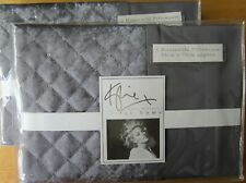 KYLIE AT HOME Housewife Pillowcase PAIR New GIA SLATE