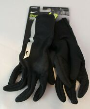 NIKE FLASH SPHERE Womens DriFit Touch Screen Reflective Running Gloves Black S