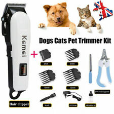 Professional Mute Pet Cat Dog Hair Clipper Trimmer Shaver Cordless Scissors Set