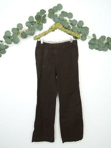 Women's J.Crew City Fit Stretch Chino Brown Trouser Pants Size 4