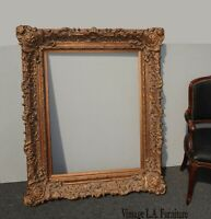 "Large 55""H Ornate Vintage French Provincial Louis XVI Rococo Gold Picture Frame"
