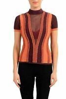 Just Cavalli Women's Wool Knitted Turtleneck Short Sleeve Top US S IT 40