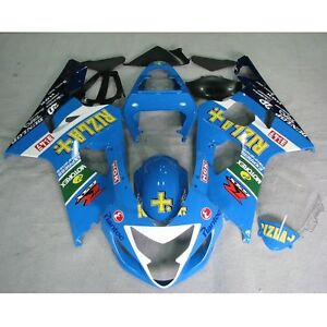 Verkleidung Blau Lacksatz Bodywork Fit For Suzuki GSXR750 GSX-R 600 2004-2005