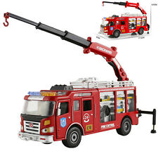 Fire engine Truck Construction Vehicle Car Model Toy 1:50 Scale Diecast in box