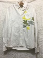 Sixpack France White Shirt. Sz Med 100% Cotton Pre-owned