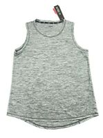 Women's ZELOS Muscle Tank Athletic GYM Yoga Sport Sleeveless Top Sz M Grey New