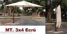OMBRELLONE BRACCIO 3x4 ECRU' SENSO M0431 ALLUMINIO RETRATTILE GIARDINO SM