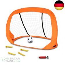 U008 Fußball mit Pumpe und Netz Ball Ballpumpe D0