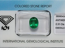 SMERALDO CT.2,31 OVALE CERTIFICATO IGI BLISTER - EMERALD 2.31 CT. CERTIFICATED