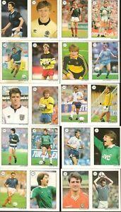 TOPPS SAINT 'N & GREAVSIE ALL STAR FOOTBALL COLLECTION 1989 FULL VARIATION SET
