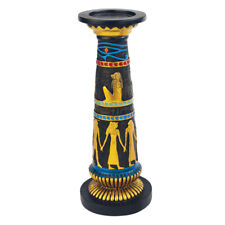 Design Toscano Temple of Luxor Sculptural Egyptian Amenhotep Candleholder