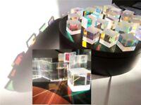 4PCS Defective Cross Dichroic Prism RGB Combiner&Splitter X-cube Glass prism