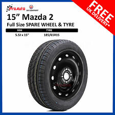 "Mazda 2 2014-2017 15"" FULL SIZE STEEL SPARE WHEEL & TYRE  185/65R15"