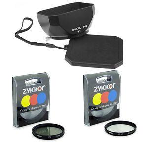 52mm Mennon LENS Hood, UV CPL Filters for Panasonic DMC FZ100 FZ40 FZ45,NEW,USA