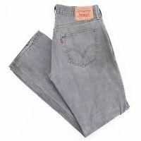 LEVI'S 514 Slim Straight Fit Mens Grey Jeans W34 L31
