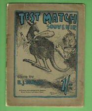 #T317.   C. 1921  TEST MATCH SOUVENIR CRICKET MAGAZINE