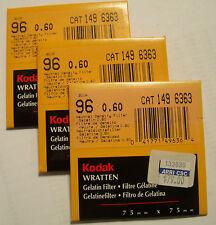 Kodak wratten GELATINA Filtro NO 96 0.60 7.6cm OR 75mm Cuadrado