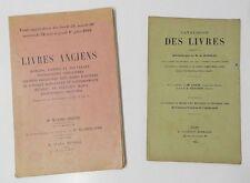 ** CATALOGUES DE LIVRES ANCIENS - BIBLIOPHILIE : EDITIONS ORIGINALES, CURIOSITES