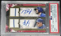 2019 Topps Diamond Icons Dual Player Autos Relic Red K.Bryant/A.Rizzo #1/5 PSA 9