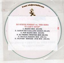 (HB652) DJ Steve Forest vs. The King, U Can't Stop - DJ CD