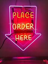 "New Place Order Here Arrow Open Acrylic 17""x14"" Neon Sign Light Lamp Bar Decor"