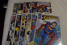 Adventures of Superman 11 issue lot, 505-514 & 505 Metallic cover
