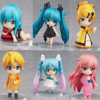 6x Anime Vocaloid Hatsune Miku Cute PVC Figure Model Toy Gift Doll New NO Box
